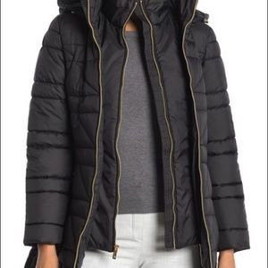 Anne Klein Double ZIP Smoke Puffer Jacket Sz. M